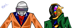 Daft Punk Alive by Seigman-Alice