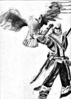 Connor Kenway and Eagle by emuffin717