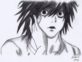 L. Lawliet - She kissed me... by AureliaDominiqueVida