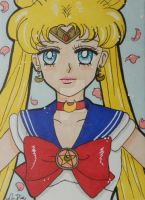 Sailor Moon ACEO manga style 1 by LadyNin-Chan