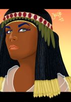 Egyptian woman by Visjel