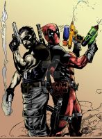 Punisher and Deadpool by LostKeyStudios