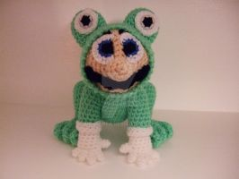 Mario in his frog suit. Free pattern by Mrsroppa