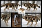 Customized 2015 Schleich Snarling Wolf by Sokannon