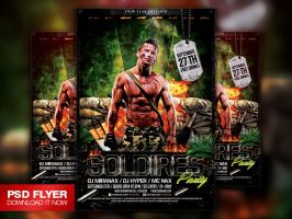 Soldiers / Army / Military Flyer Template PSD by Art-MiraNAX
