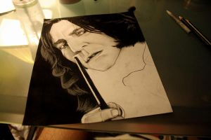 Harry Potter Project: Snape WIP 2 by artbyjoewinkler