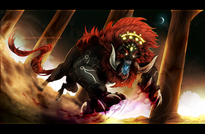 Legend of Zelda: Beast Ganon by Ink-Leviathan
