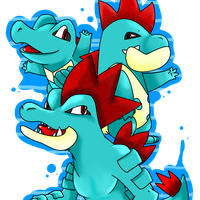 Feraligatr Family by toffeeComet