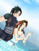 Zack+Aerith - by MaySan by FirstxLove
