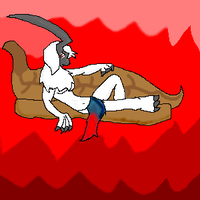 Sight the Absol Lounging by kera