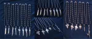 Final Fantasy Necklaces by RebelATS