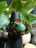 ensnared aventurine ring by BacktoEarthCreations
