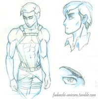 Erwin Smith doodles by Elysian-Fall