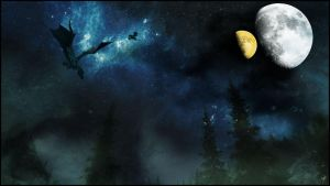 Dragons in the Night Sky by EKKnight