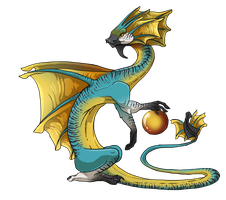 Sun-Frill Dragon (Male) by jeweledphoenix