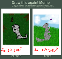 Draw this again meme .: Kitten by Who-Butt