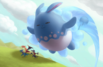 Huge Power Azumarill by Sephirona