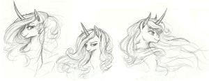 Princesses Doodles by Earthsong9405