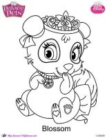 Princess Palace Pets Blossom coloring Page by SKGaleana
