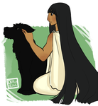Hecate with Puppy by TheDutchesse