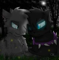 Scourge x Ashfur by GingaWarriorCatWolf