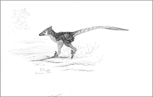 Deinonychus with Fake Ears by Grays-raptor-flock