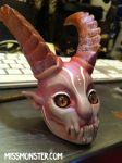 demon lady doll head by missmonster