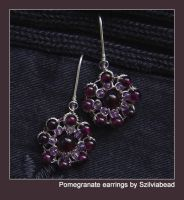 Pomegranate earrings by bodaszilvia