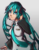 Hatsune MIku fan art again by Hamzilla15