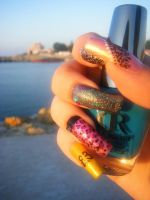 the nails are on vacation by RoseEmma