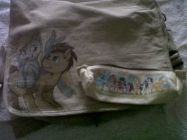 MLP FIM Custom bag and pencil case by Froncake