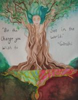 Earth Day Poster Contest 2012 - Be The Change by hollystarlightanime