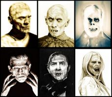Famous Monsters and Villians by TheNightGallery
