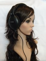 Girl with headphones 3 STOCK by hellohappycrafts