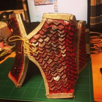 Rathalos armor - corset 100% done by Grethe--B