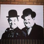 Laurel and Hardy multilayer stencil and spraypaint by RAMART79