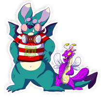 Neopets- Skeith and Buzz by JubiIee