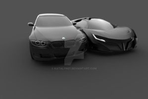 Bmw series 3 coupe and Seto by katalyn27