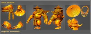 Kong Lao Highpoly Breakdown by DevindraLeonis