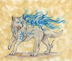 Water Wolf by SpottedNymph