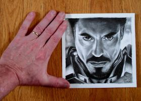 My Hand and Iron Man by Doctor-Pencil