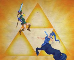 Link vs a Lynel by ChristopherCrow