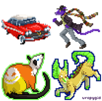 Teensy pixel icons round 2 by uropygid