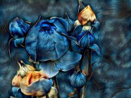 Blue rose by eReSaW