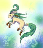 Leafeon by AlmightyHighElf