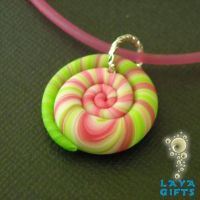 Polymer Clay Spiral Pendant by CakeToppers
