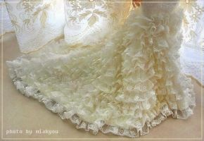 The lower part of lace gown by miakyou