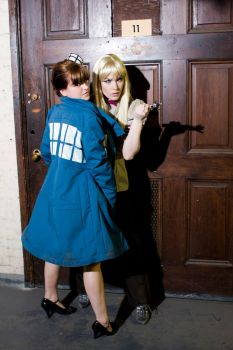 Eleven and the Tardis by Tess-san
