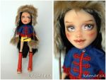 Bratz Going to Russia Jade doll repaint by kamarza