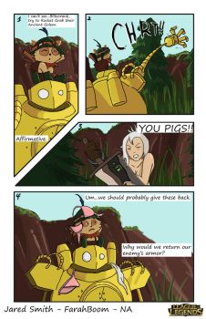 LoL Comic Contest: Teemo and Blitzcrank by FarahBoom